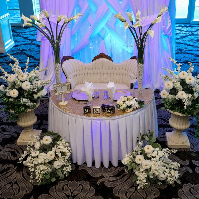Victorian Wedding Dais offered by Beach Breeze Weddings in Sarasota Florida