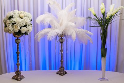Five foot tall centerpieces for weddings. Decor made simple- by Beach Breeze Weddings Sarasota