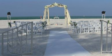 Coquina Beach Wedding Canopy with Gates