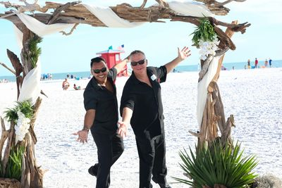 Beach Breeze Weddings- your event team!    Allan Z and Luis!