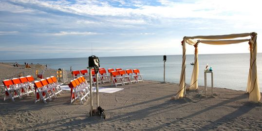 Turtle Beach Wedding decor by Beach Breeze Weddings Sarasota FL