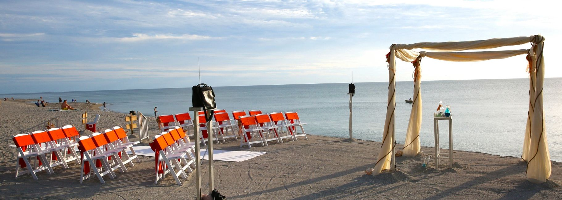 This Sarasota Wedding Modern Fabric Canopy Decor Package