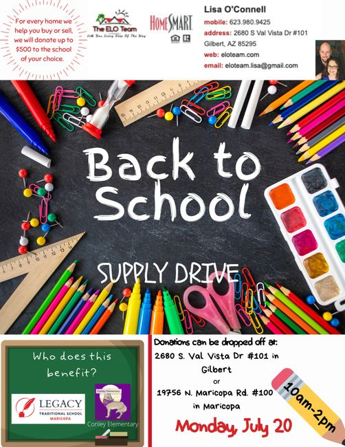 ELOTeam is trying to collect as many school supplies as possible to help teachers out this year