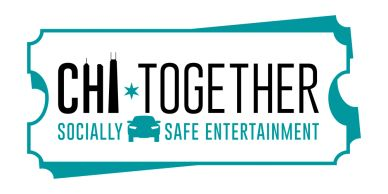The logo for CHI-Together, a socially-distanced drive-in event series hosted by Fueled Events.