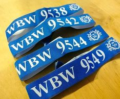 numbering fabric wristband