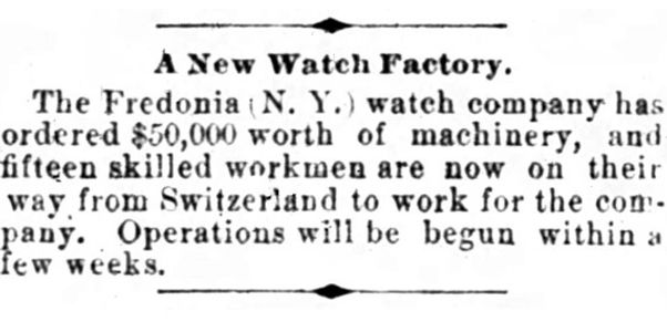 Fredonia Watch Company