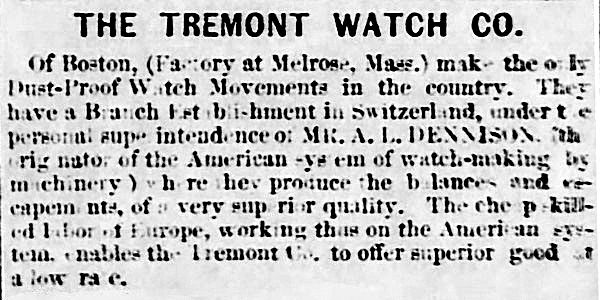 Tremont Watch Company