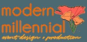 Modern Millennial Event Design + Production logo
