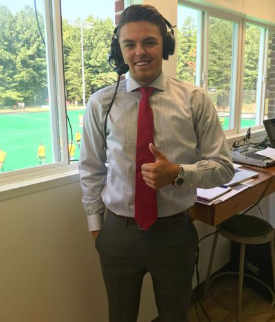 Ford Martin before a Davidson College          Field Hockey game on ESPN+