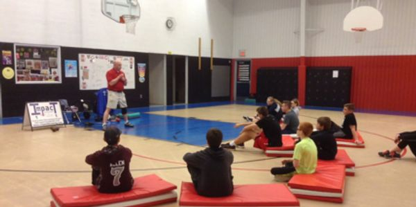 Coach Jeff at Channahon J.H.S. for a clinic