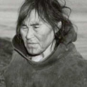 Saqulan my great grandmother and the last in our family to wear the sacred chin tattoos. Inuit.