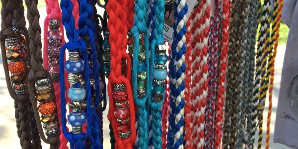 Our handwoven Leashes and Splitters are available in many color options