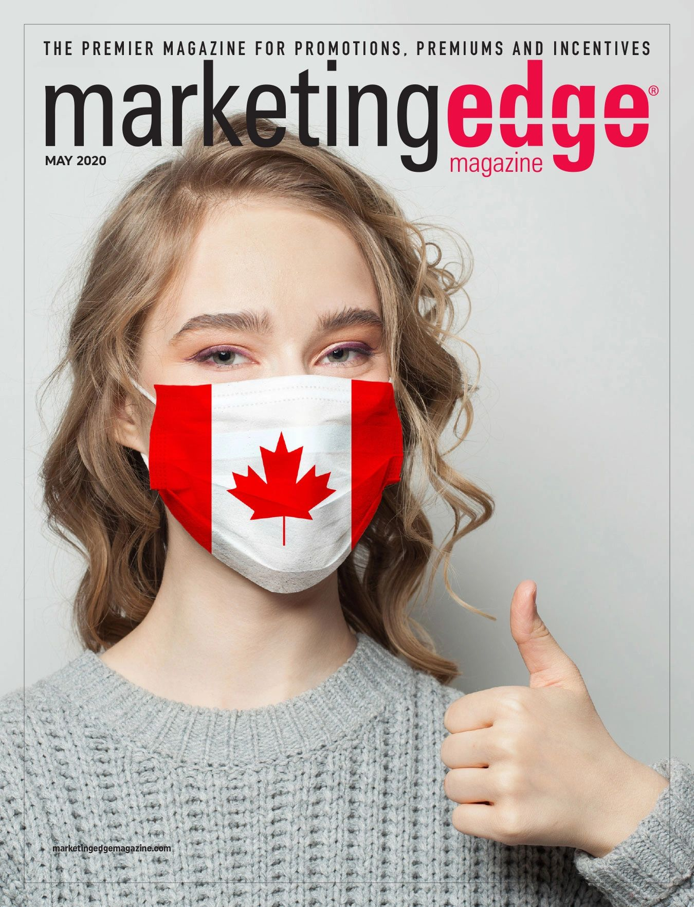 Marketingedge Magazine - Cover - Spring - May 2020 - Heart of COVID-19 - Canada - Mask - PPE