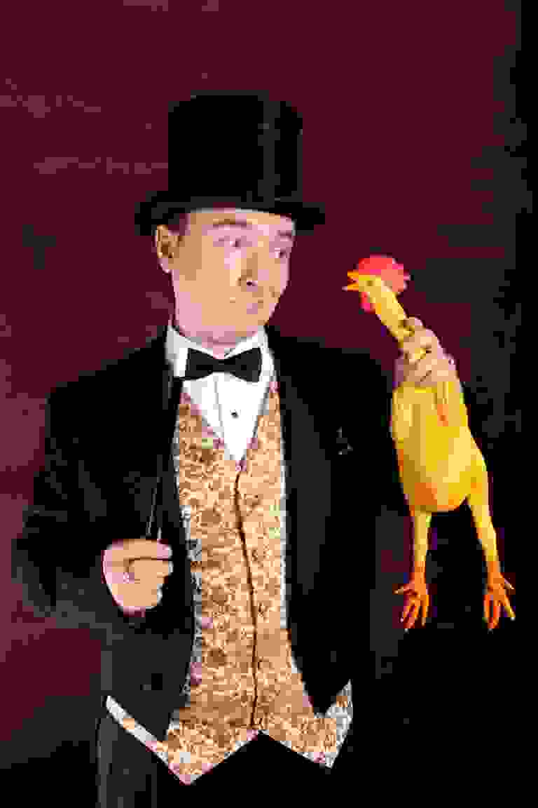 The Great Charlini and Maurice the Chicken