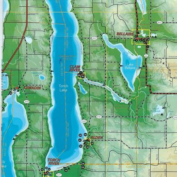Map of the Torch Lake area