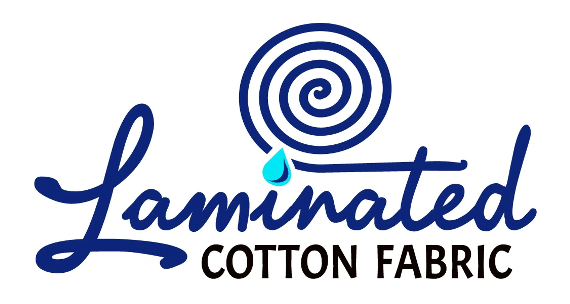 Laminated cotton fabric logo