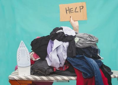 Pile of ironing, help, 24 hour turn around, ironing starched, hung and returned.