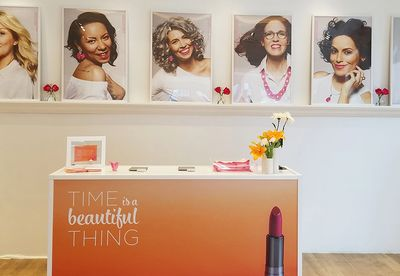 In store campaign: ULTA BEAUTY models for Breast Cancer Awareness Program including THERESA DRESCHER