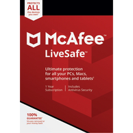 McAfee liv safe Antivirus Secuirty customer services