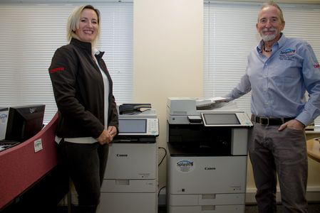 Sally Bailey and Aaron Bailey are proud to represent Splash MFP Ltd. Supplying Canon MFP Systems.