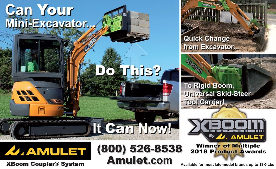 The XBoom Coupler® is an exclusive, Patented new idea in eXcavator coupler