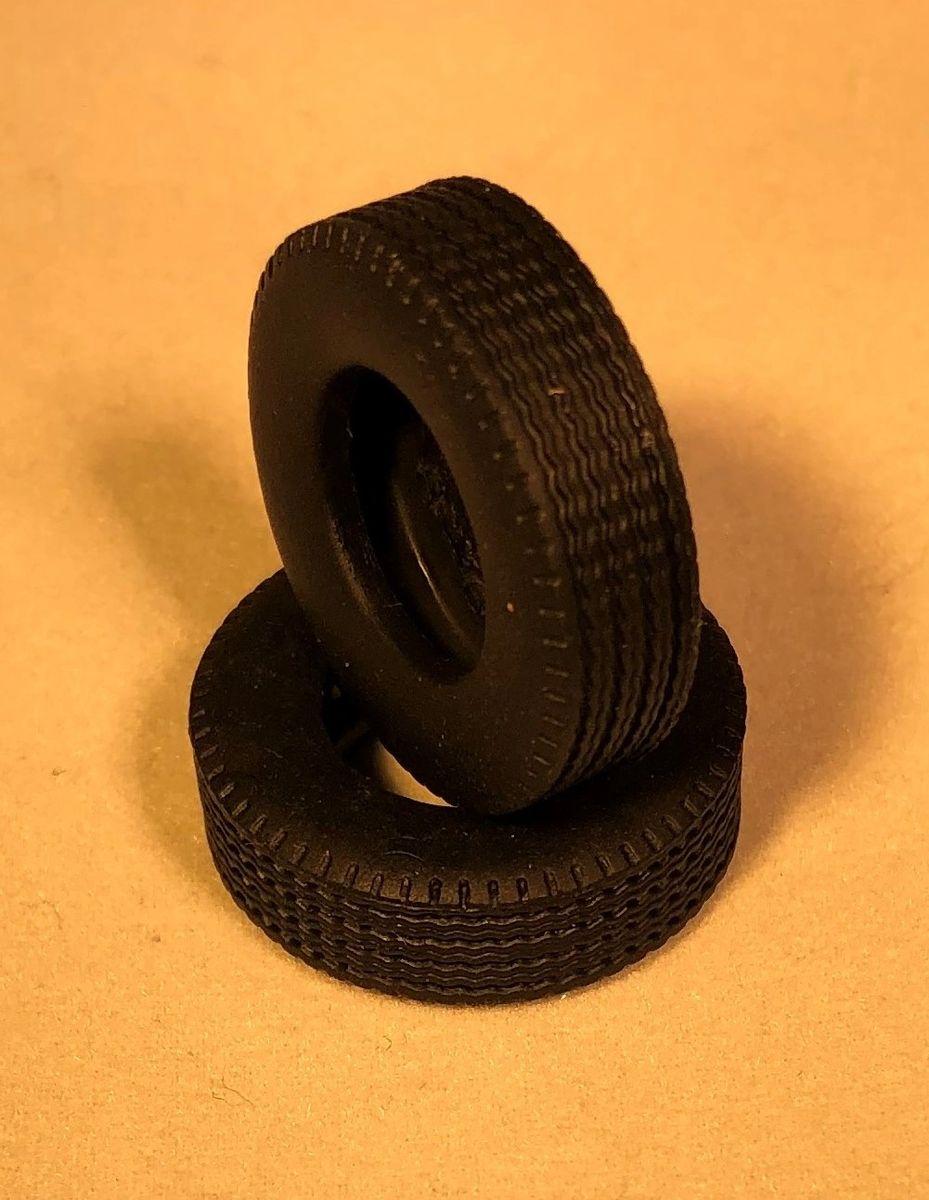 Chrome Rim Tire Set 1 50 Scale For Tri Axle Truck