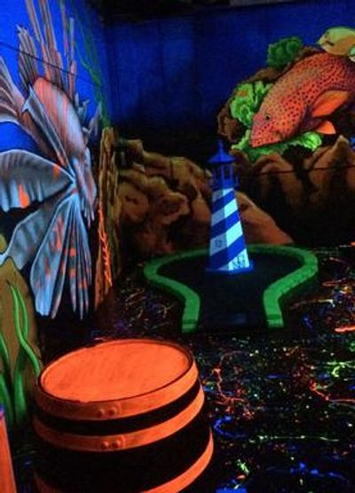 Glow golf course