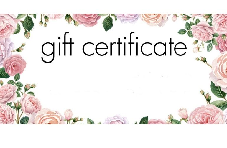 Gift Certificates available in any amount.   Just call the shop or email me your Credit info.