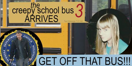 the creepy school bus 3 poster from Don't Turn Around