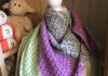 This beautiful shawl is a kit with the pattern included.
