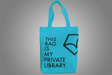 THIS BAG IS MY PRIVATE LIBRARY–blue
