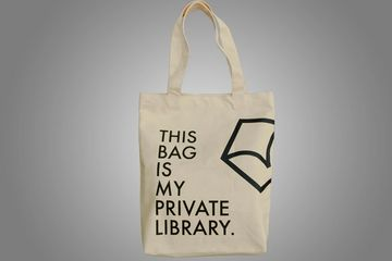 BOOKS and BAGS #4 THIS BAG IS MY PRIVATE LIBRARY_cream