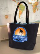 Reusable Market Tote bag made from your T-shirt or vintage linens. Lynne Ellen Small Batch Stitchery