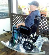"alt=""rocking wheel chair rocker platform.Higley Welding."""