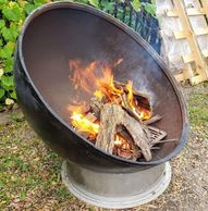 "alt=""Tank end fire pit bowl 41"" diameter x 21"" deep x 3/8"" thick steel."""