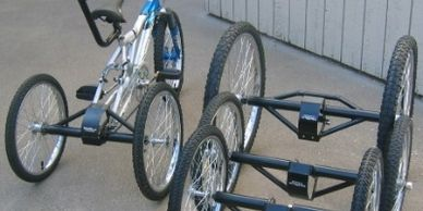 "alt=""bicycle conversion axle assembly.Higley Welding"""
