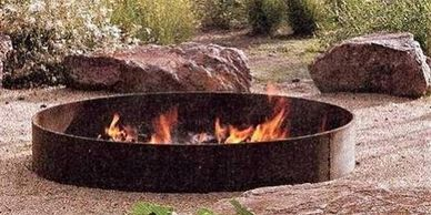"alt="" 72"" Group Camp Deep Fire Pit  Higley welding"""