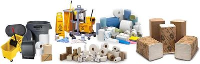 Lunchroom supplies, Janetorial supplies, paper towels, toilet paper, trash bags, cleaning supplies