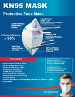 FDA/EUA approved KN95 masks. PPE products