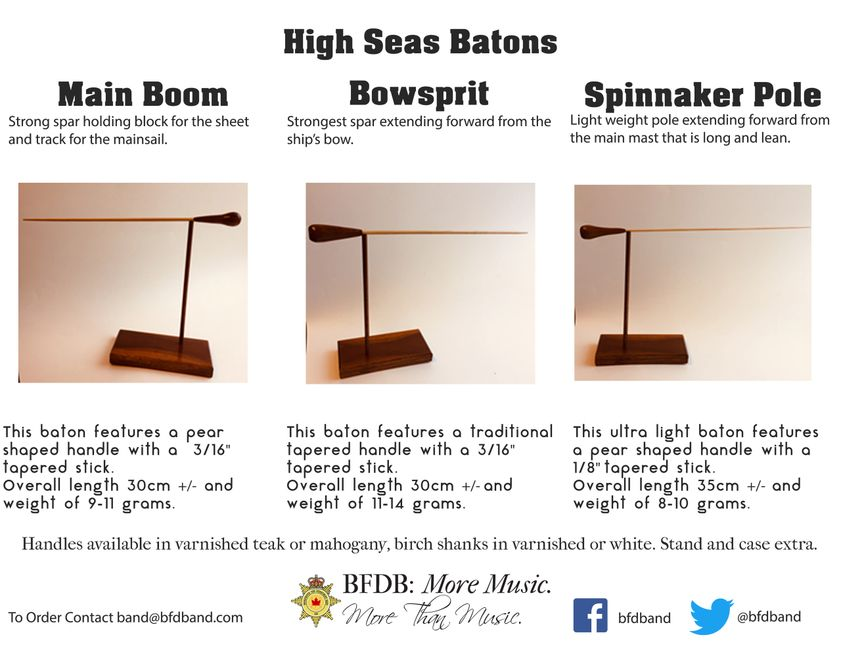 Types of High Seas Batons.