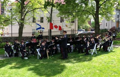 Bridgewater Fire Department Band at the Lieutenant Governor of Nova Scotia Annual Garden Party.