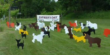 dogs surprise lawn display yard display yard card party decorations adult birthday party