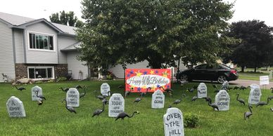 tombstone surprise lawn display yard display yard card party decorations adult birthday party