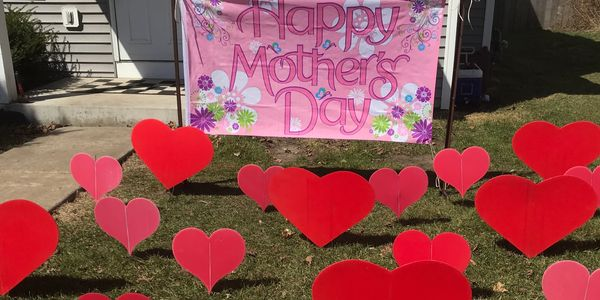 mother's day surprise lawn display yard display yard card party decorations adult birthday party