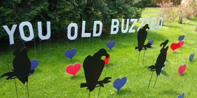 buzzard surprise lawn display yard display yard card party decorations adult birthday party