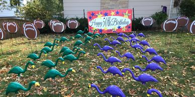 football surprise lawn display yard display yard card party decorations adult birthday party