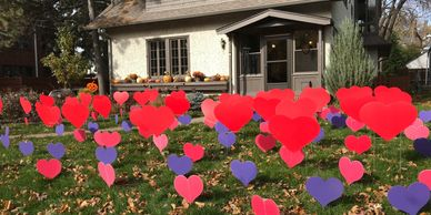 hearts surprise lawn display yard display yard card party decorations adult birthday party