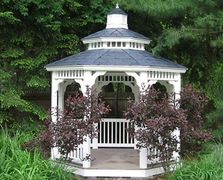 Vinyl octagon gazebo with pagoda roof