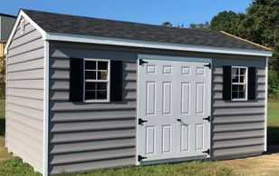 10x16 Workshop shown with optional Carolina Beaded siding