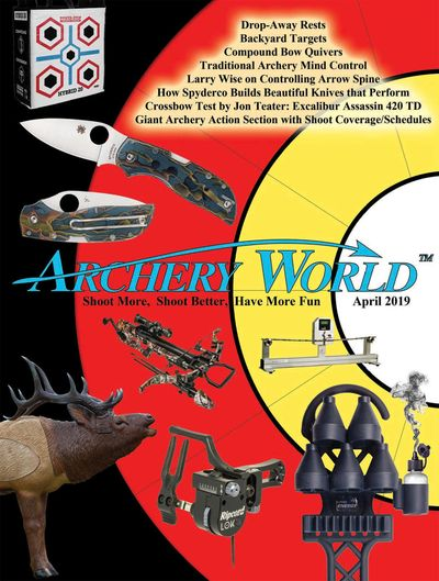 April 2019 Cover of Archery World Magazine